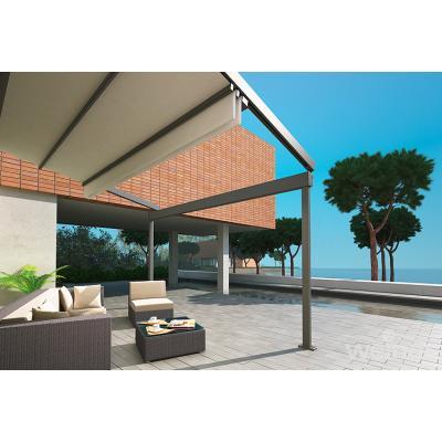 Pergolen mit Sonnen- und Regentuch bespannt, sind elektrisch ein- und ausfahrbar...
